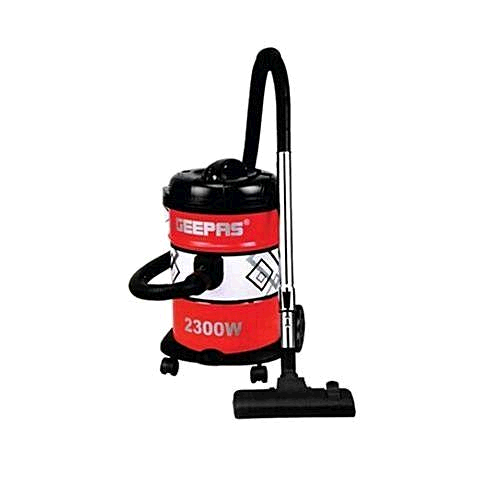 Geepas GVC2592 Cylinder Drum Bagged Vacuum Cleaner 21Litre Red/Black 2300W