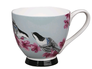 Portobello 5100075 China Footed Mug Kazumi Bird