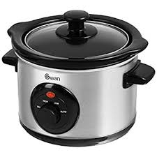 Swan 1.5ltr Compact Stainless Steel Slow Cooker