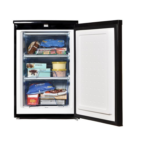 Statesman Undercounter Freezer Black 55cm wide 33Litre H845 W553 D574cm 2Year Warranty