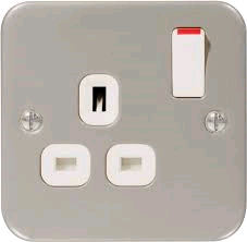 BG Metal Clad Single 13a Socket
