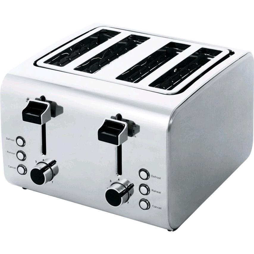 Igenix 4 Slice Stainless Steel Toaster Polished/Brushed