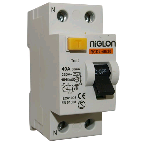 Niglon 2 Pole 40A 30mA RCD