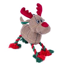PETFACE 80139 REINDEER ROPE LEGS SOFT PLUSH (4 ASSORTED) NEW