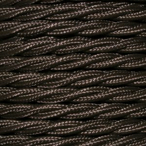 Cable 3 Core Twisted Braided 0.75mm Brown