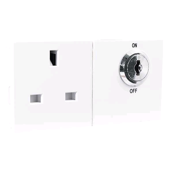 BG Controlled Switch Socket White