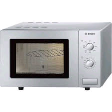 Bosch Microwave + Grill 0.6Cft 800watts Brushed Steel
