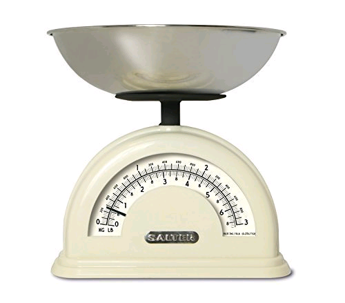 Salter Vintage Style Mechanical Scale Cream