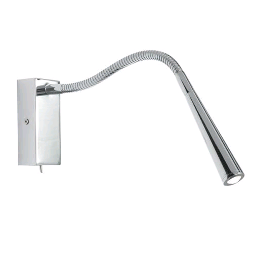 Saxby Madison 1w LED Wall Lamp Chrome Switched