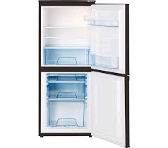 Lec Fridge Freezer Black H1225 W500 D540