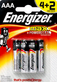 Energizer AAA Alkaline Battery 4 + 2 (6 Pack)