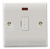 BG 13a Unswitched and Fused Spur with Neon and Flex Outlet