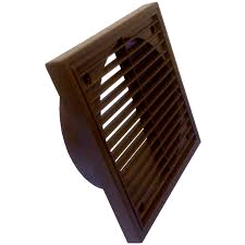 """Manrose 5"""" 125mm Egg Crate Grill Brown"""