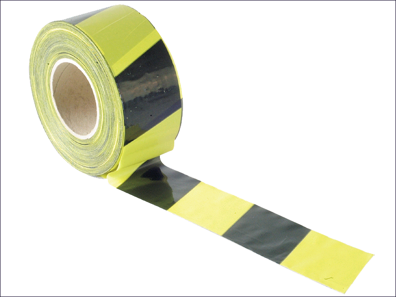 Barrier Tape 70mm x 500 Black/Yelow