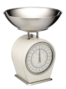Kitchen Craft Living Nostalgia Scale Mechanical 4kg Grey