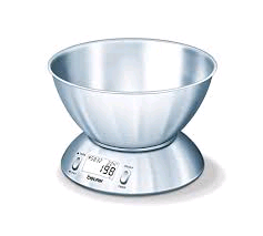Beurer Designer Kitchen Scales With Stainless Steel Bowl