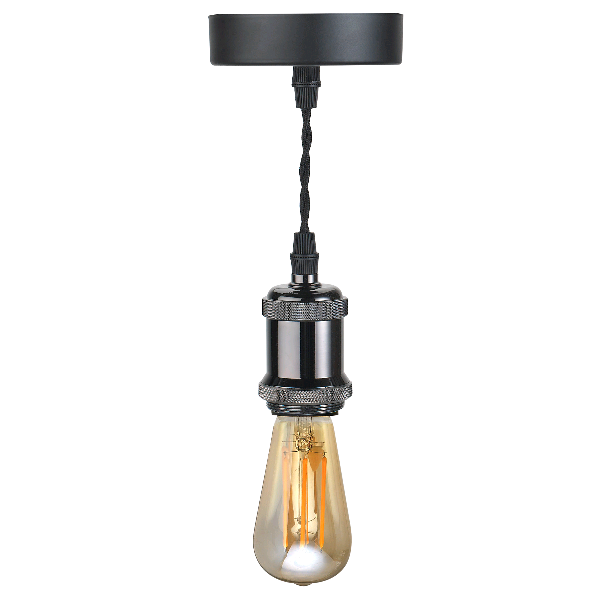 Bell Vintage Pendant Light Gunmetal Black