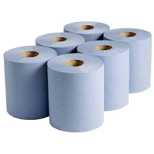Blue 2 Ply Embossed Paper Roll (Packl) 6 only