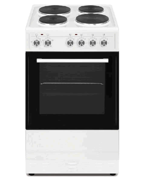 Simfer 50cm Single Cavity Electric Cooker Solid Plate White c/w 2 Year P & L Warranty