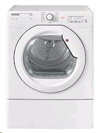 Hoover Tumble Dryer 8kg , Vented, Sensor, White, Glass Door LED Display