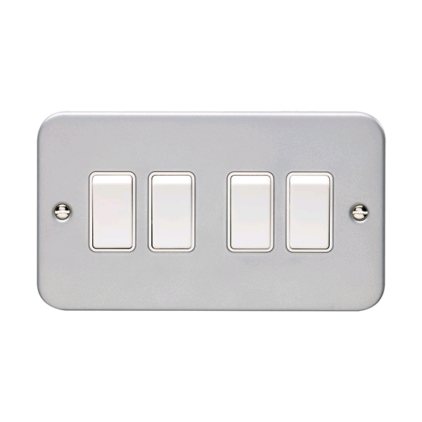 Niglon Metal Clad 4gang 2way Switch