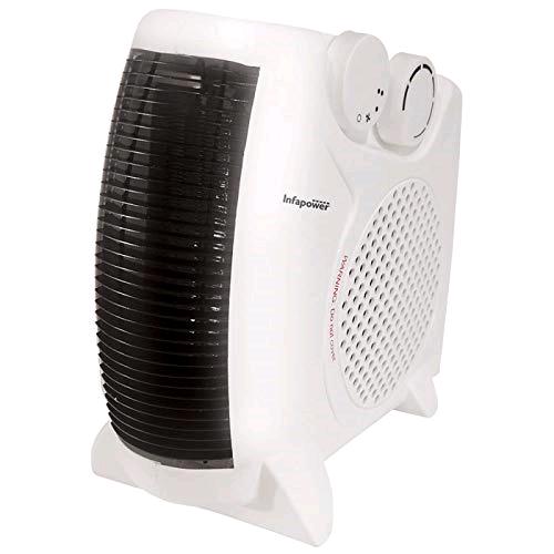 Infrapower Dual Position Fan Heater 2000W 2 Heat Settings Turbo White