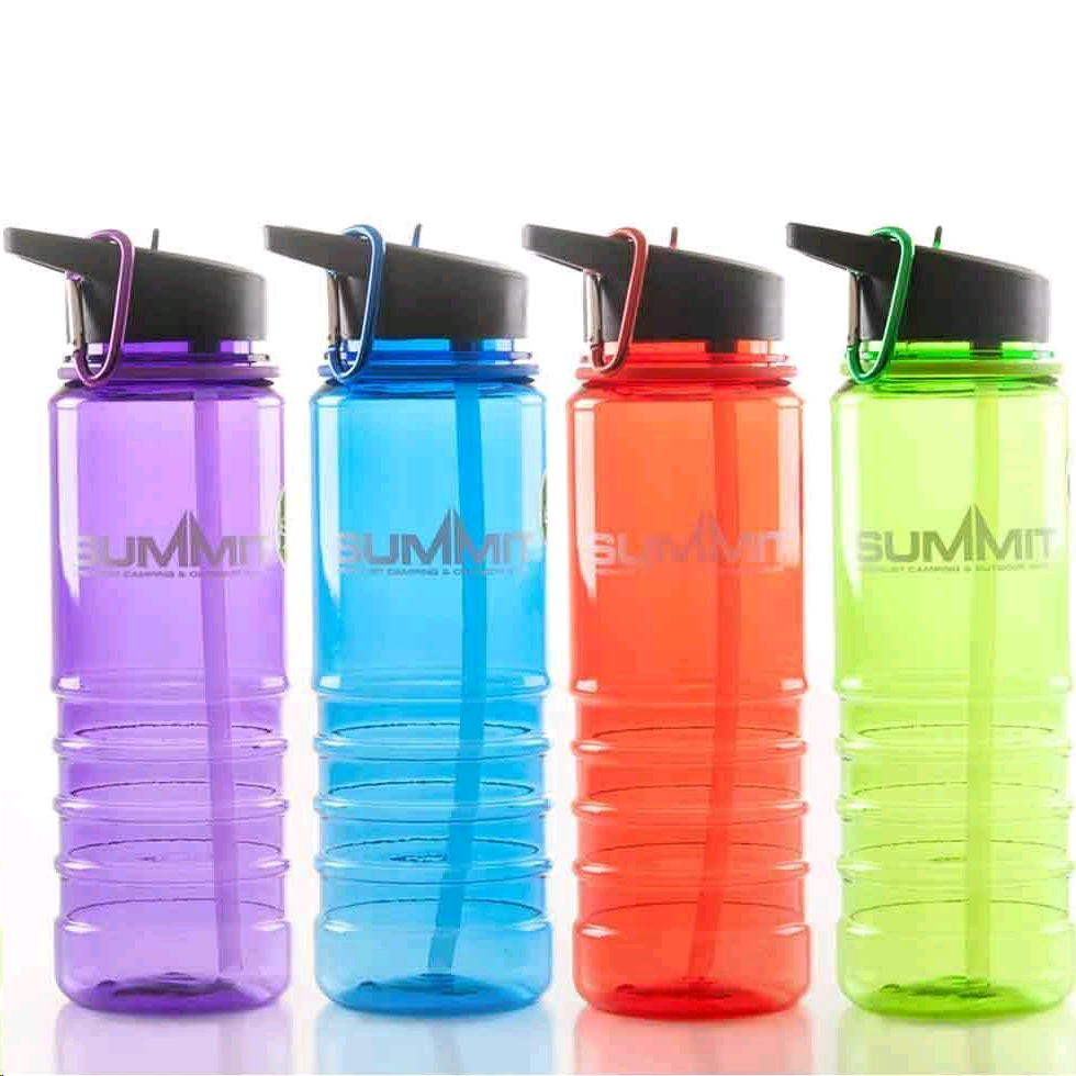 SUMMIT 70300382 Water Bottle and Straw 700ML Assorted colours