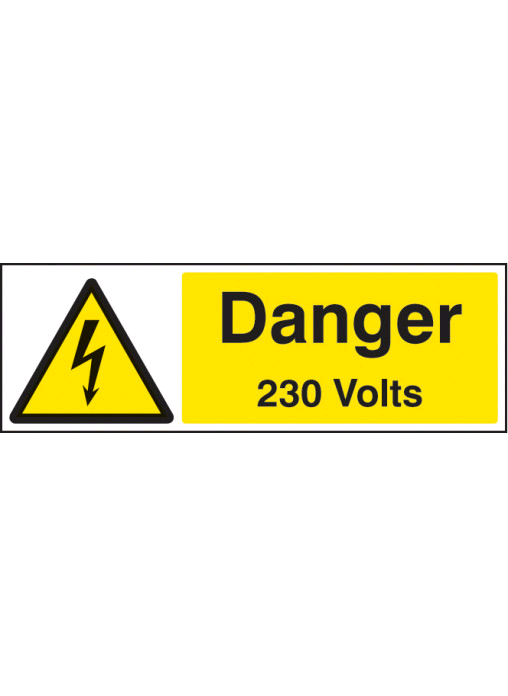 Industrial Signs Danger 230V Small (Roll 250)