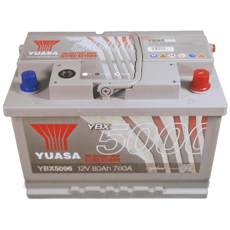 Yuasa Battery 12V 80Ah 760A Silver High (096T)