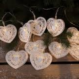 NOMA 2315016 METAL FILIGREE HEART LIGHTS X10 LED WARM WHITE
