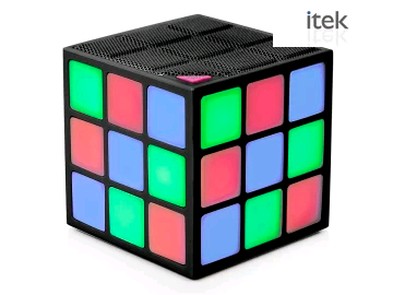 ITEK I58036 LED Bluetooth Speaker Rubix Cube 2980200