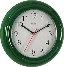 Acctim Wycombe Green Wall Clock Requires 1 x AA Battery (not included)