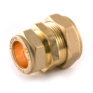 Copper Reducing Coupler 22mm x 15mm Compression