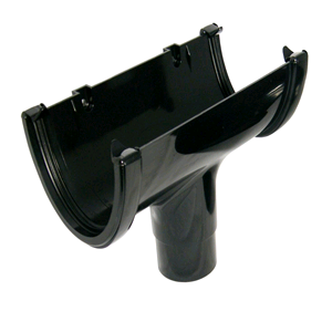 Floplast Hi-Cap 115mm Running Outlet Black ROH1
