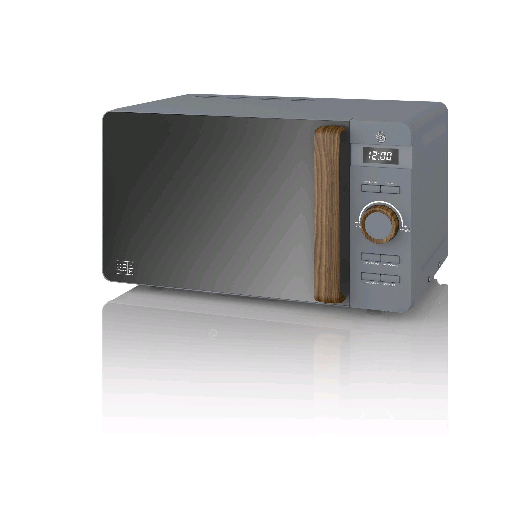 Swan Nordic Digital Microwave 20L Grey