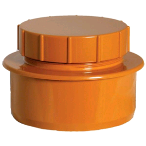 Floplast Screwed Access Cap Terracotta D292 SOIL