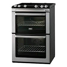 Zanussi 60cm Electric Cooker Doubloe Oven & Ceramic Hob Stainless Steel