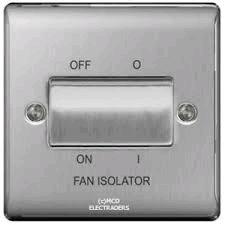 BG Nexus 3Pole Fan Isolator Brushed Steel