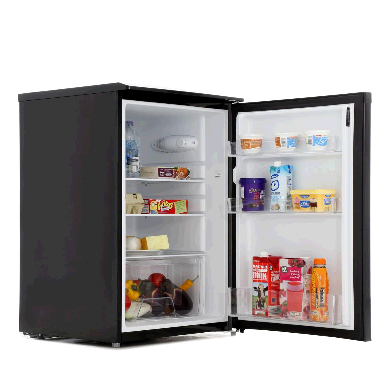 Lec Larder Fridge Under Counter Black H850 W545 D554