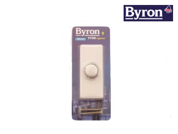 Byron Illuminated Bell Push White. Needs to be wired.
