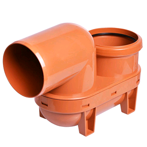 Underground 110mm Lowback P Trap D501 Terracotta SOIL