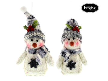 FESTIVE P020997 Grey Snowman Small Assorted 15cm each