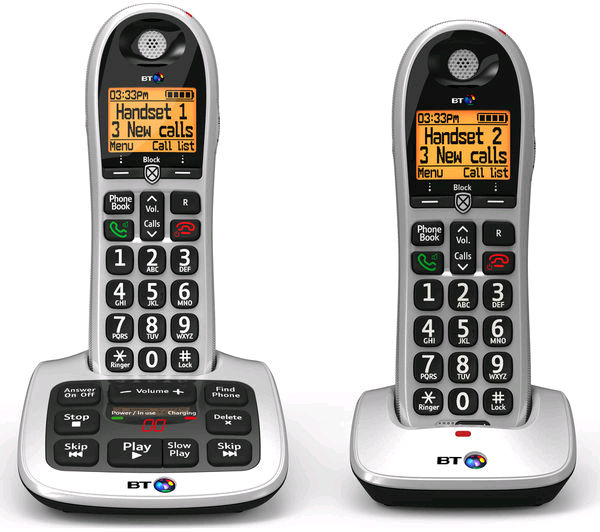 BT 4600 Big Button Twin Handset with Premium Call Blocker