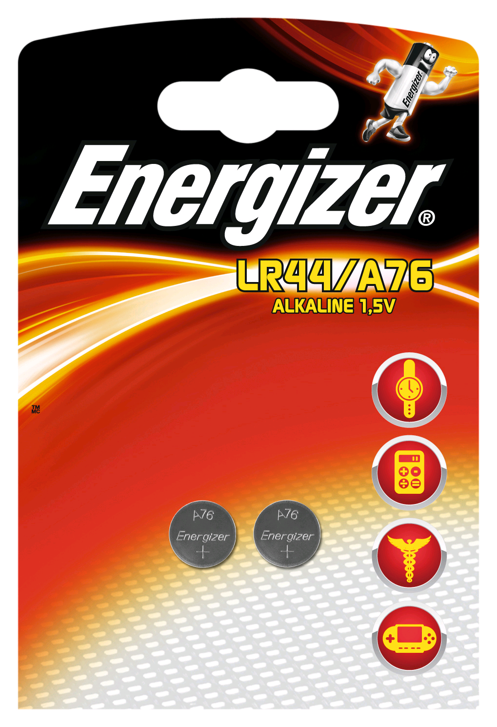 Energizer LR44 1.5V Button Cell Battery Twin Pack