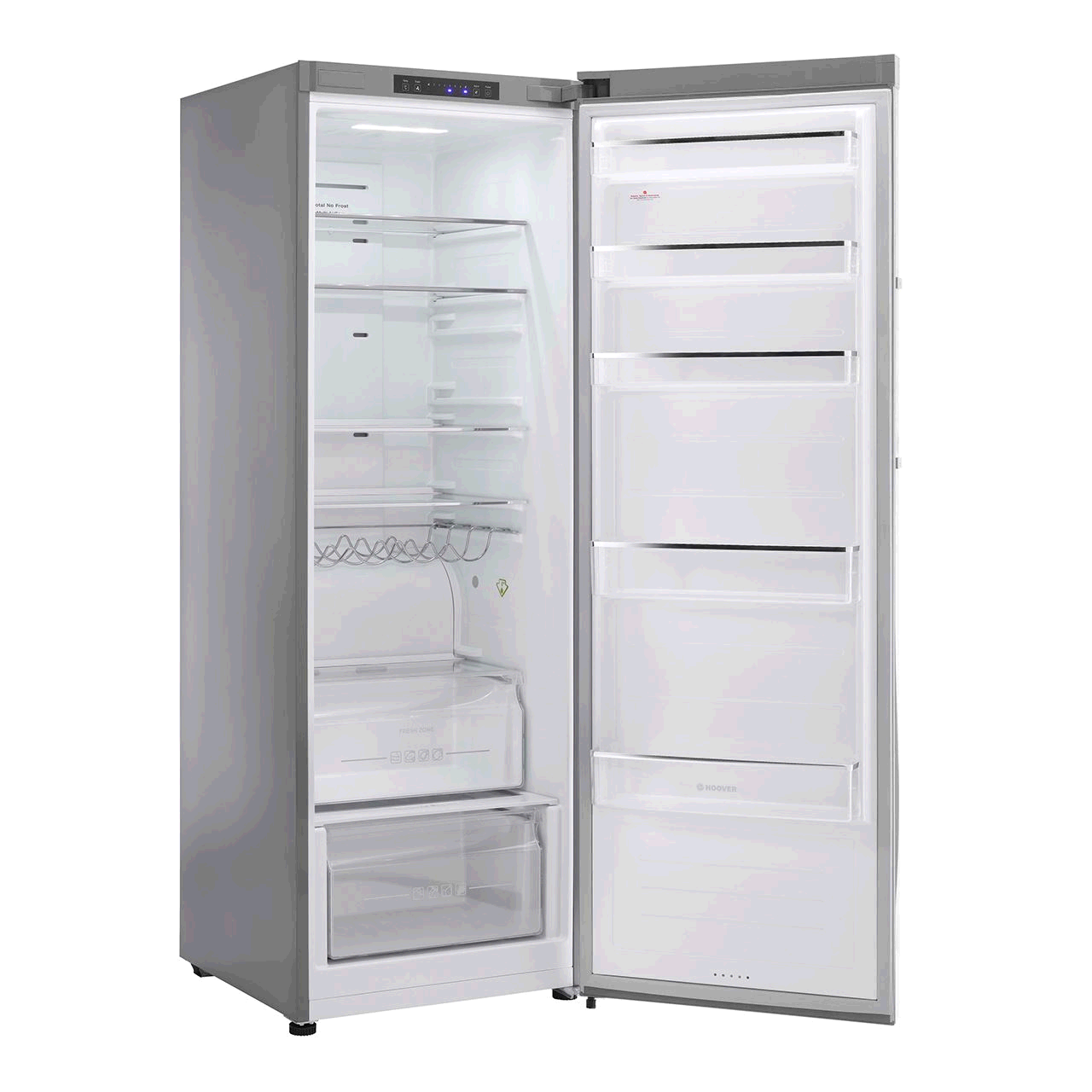 Hoover HVLN6172XH Tall Larder Fridge Stainless Steel A+ Energy H-172cm, W-60cm, D- 65cm