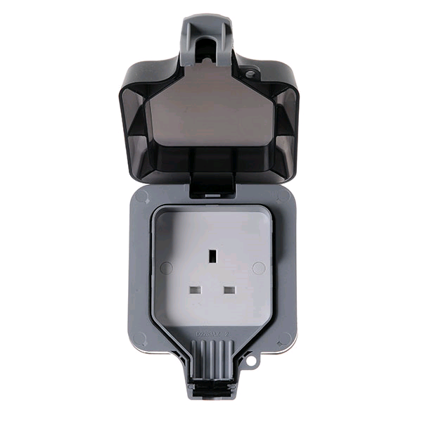 BG 1gang 13a DP Weather Proof Unswitched Socket