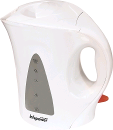 Infapower X501 White Cordless Kettle 1.7Ltr 2.2Kw Easy View Window