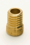 "Jeani Brass Wood Nipple 1/2"" to 7/16"""