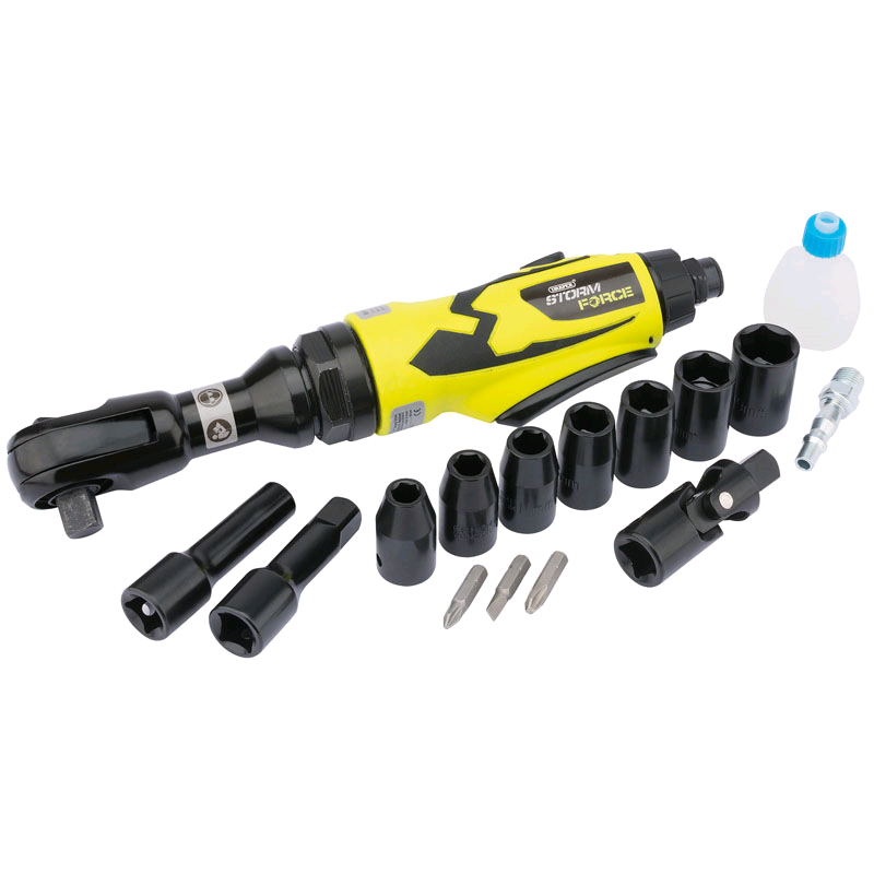 Draper Storm Force 1/2in Compact Air Wrench Ratchet Kit