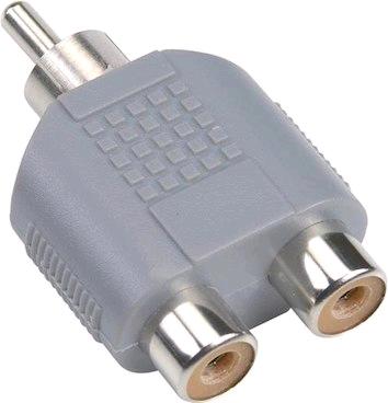 Bandridge RCA Spliiter 1 xRCA Male to 2 x Female Amp-Sub
